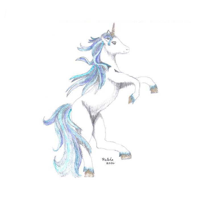 April S. Walls-Stuart - Blue Unicorn
